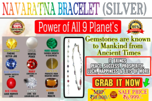 Navgrah Bracelet In Silver (Power of 9 Planets)